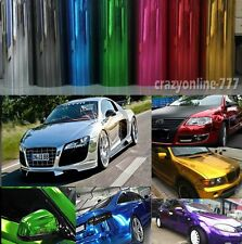 60FT x 5FT Roll Glossy Mirror Chrome Film Vinyl Car Wrap Sticker Bubble Free
