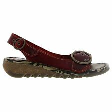 Fly London TRAM723FLY Wedge Red Womens Sandals
