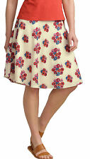 NEW SEASALT HAVEN CREAM RED PINK FLORAL SKIRT 8 10 14 16 18 20