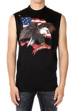 DSQUARED2 Man Sleeveless LONG COOL TWISTED T-shirt Made in Italy