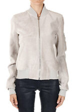 RICK OWENS Women Grey FLIGHT BOMBER CROPPED Jacket New with Tag
