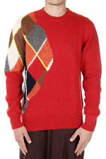 VIVIENNE WESTWOOD LONDON Men Red Knitted Alpaca Mixed Sweater Italy Made