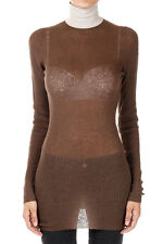MARNi New Woman Brown Turtle neck Sweater Zipped wool Made in spain NWT