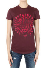 DSQUARED2 Dsquared² Women Printing Round Neck in Cotton T-shirt Made in Italy