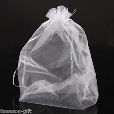 Wholesale 02 20x30cm Organza Gift Bags Jewelry Pouches Wedding Favor White