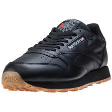 Reebok Classic Leather Mens Trainers Black Gum New Shoes