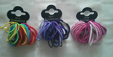 38pcs Thick & Thin Hair Elastics Hairbands Bobbles Bands Neon Brights Colour
