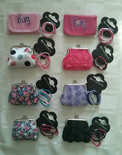 Coin Purse & Wallet 4 Hair Elastics 8 Variations Womens Girls,Party Bag Set Gift