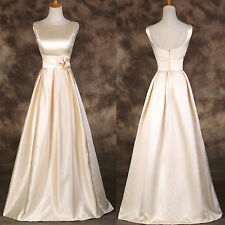 Satin Maxi Long Bridesmaid Evening Prom Party Wedding Ball Gown Formal Dress Hot