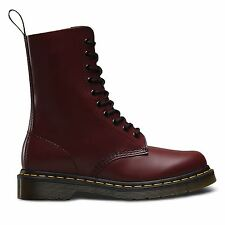 Dr.Martens 1490 Smooth 10 Eyelet Cherry Mens Boots