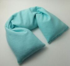 Organic Cotton Hot or Cold Therapy Flax Neck Pillow Organic Herbs Blue Flannel