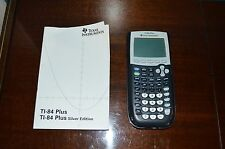 Texas Instruments TI-84 Plus Graphing Calculator with Cover and Manual