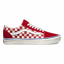 VANS OLD SKOOL LITE SEEING CHECKERS CHILLI MARSHMALLOW SKATEBOARD SHOE CLEARANCE