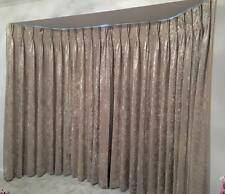 Ivory Crushed Velour Triple Pinch Pleat Blackout Extra Huge/Long/Bay Window