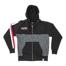 Mass Effect 1 2 3 4 N7 Armour Stripe Heather Yoke Hoody Hoodie Sweater - Bioware