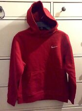 NIKE BOYS SIZE MEDIUM RED PULLOVER HOODIE, NWT 80% COTTON, 20% POLYESTER
