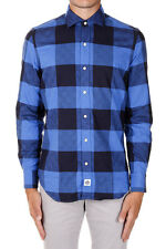 HYDROGEN New Men Blue Checked Printed Classic Shirt FLANNEL NWT