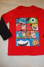 "DISNEY / PIXAR CHARACTER TEE SHIRT ""TOY STORY, INCRED, NEMO & MONSTERS INC NWT"