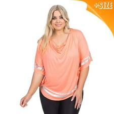New Ladies Plus Size Autograph Coral Cowl Neck Poncho Blouse Top Blouse 16-22