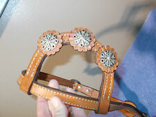 Alamo Saddlery High Quality Leather Western Bridle Headstall One Ear  NWT