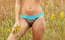 Wilderness Dreams Mossy Oak Break Up Country Camo Aqua Trimmed Lace Thong