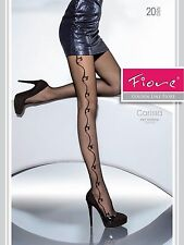 FIORE CARISSA PATTERNED TIGHTS 20 DEN G5664