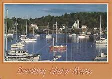 Large Postcard - 1990 - Boothbay Harbor Maine - Toward East Side of Harbor