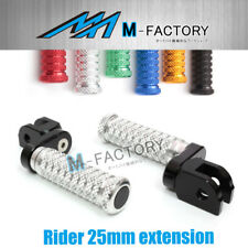 M-Grip Billet 25mm Rider Extended Foot Pegs Fit Yamaha TZR 250 87 88 89 90