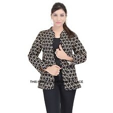 INDIAN COTTON REVERSIBLE QUILTED WINTER JACKET COAT BLACK COAT BLAZER ALL SIZE