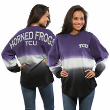TCU Horned Frogs Women's Purple Ombre Long Sleeve Dip-Dyed Spirit Jersey