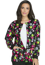 Scrubs Dickies Snap Front Warm-Up Jacket Flower Hopping 84300C FLWH FREE SHIP