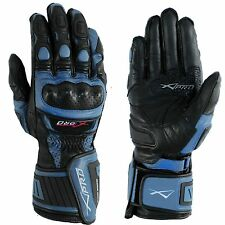 Protective Racing Cruiser Motorcycle Motorbike Quality Gloves A-PRO Blue