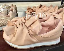 ZARA WOMAN SNEAKERS WITH BOW DETAIL NUDE 35-41 REF. 2701/201