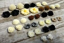Resin Flower Cabochons Flatback Flowers Resin Flower Flatbacks Assorted Cabochon