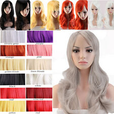 Synthetic Hair Wigs Long Layer Full Wig Cosplay Party Daily Dress Colorful Wig G