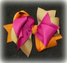 m2mg m2m Fashionable Fox Twirly Triple Layer Hair Bow Large Boutique Hairbows
