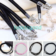"""5Pcs 3mm 18""""L Chic Cord Rope Thread Clasp Finding Link Chain Necklace Fashion"""
