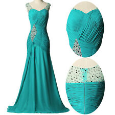 Bead Long Formal Dress Wedding Women Bridesmaid Party Evening Dresses Prom Gown