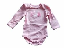NWT Girl's Gymboree animals pink long sleeve one piece shirt ~ 0 3 6 12 months