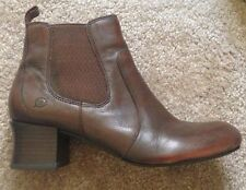Born Lena Brown Leather Pull On Chelsea Ankle Bootie 9.5 M