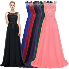 New Long Chiffon Wedding Formal Evening Party Bridesmaid Ball Gown Prom Dress 12