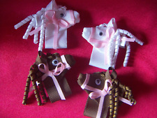 Horse Pony Hair Clip White or Brown Hair  Bow Horse Left & Right Side Handmade