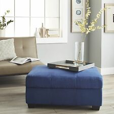 Suede Microfiber Leather Storage Bench Hinged Ottoman Choose Color 24 x 36 NEW