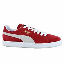 Puma Classic High Risk Red White Suede Leather Mens Trainers