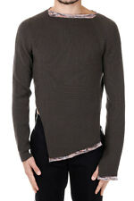 MARTIN MARGIELA MM10 New Men brown Pullover Knit Sweater Wool Blend Made Italy