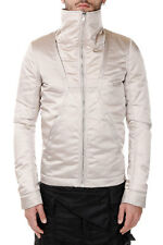 RICK OWENS New Men Beige Pearl Jacket Down Padded Made in Italy NWT