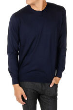 CRUCIANI New Men blue Cashmere Sweater Round Neck Pullover Made in Italy