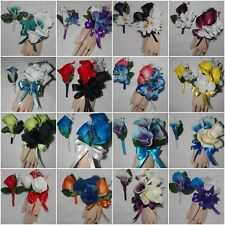 Wrist Corsage & Boutonniere 2 PC Set Calla Lilies Many Color Choices For you