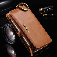 Removable Genuine PU Leather Wallet Flip Card Case Cover for iPhone 6 / 6S Plus