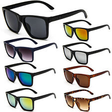 Quality Fashion Women Mens Large Frame Sunglasses UV400 Mirrored Lenses Eyewear